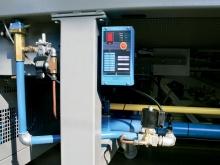 Methan-heated shrinking tunnel