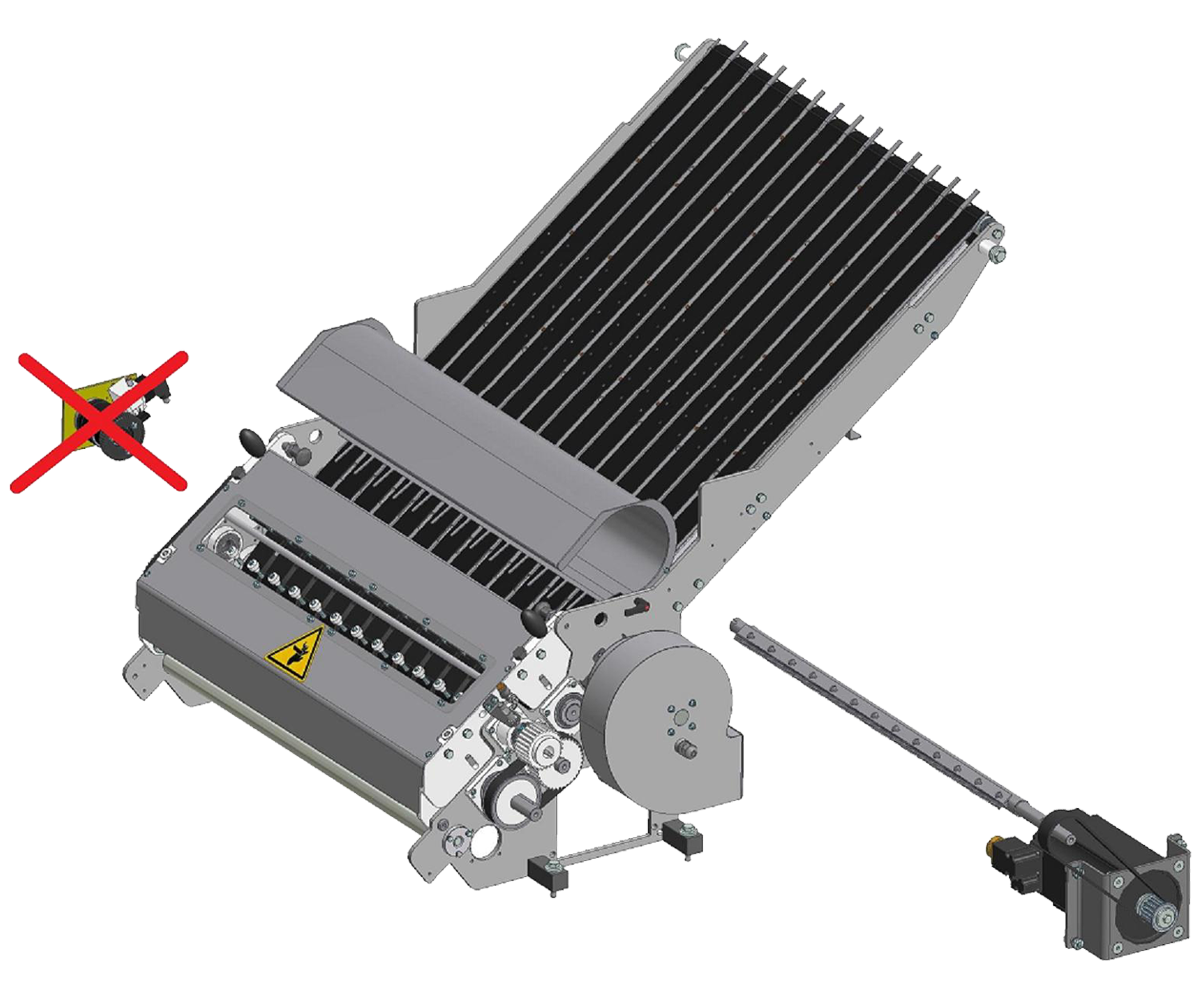 ZF010007/8 - Grupo de facas com lâmina motorizada para seladoras SK de linha simples ou dupla .
