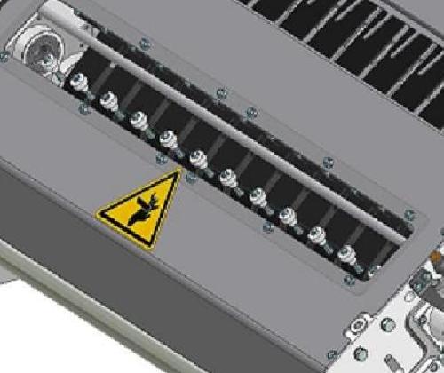 ZF010021 - Grupo de cortadores com escalada de filme tipo série SK com lâmina motorizada