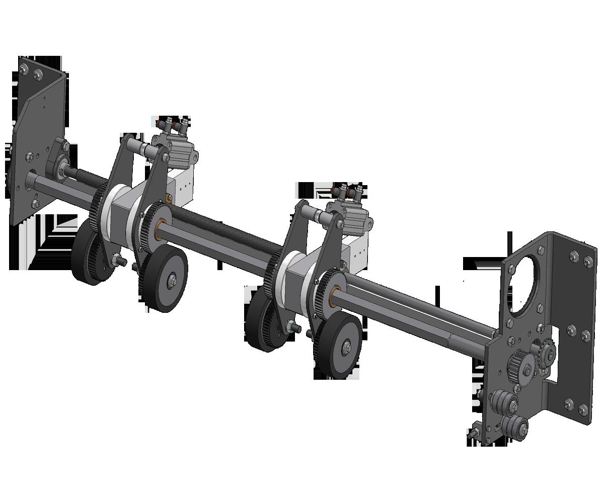 ZF010024 - Rodas de borracha do carregador de papelão