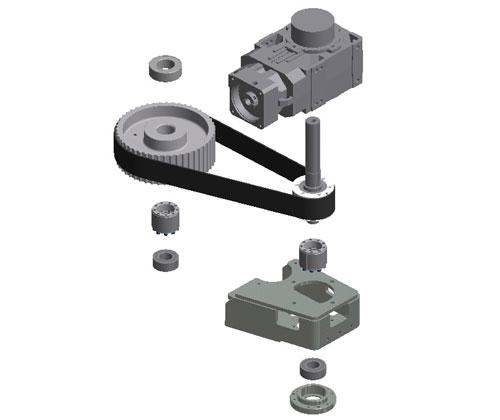 ZF010027 - Atualização na transmissão do motor principal de comando com sistema deslizante e eixo acoplado