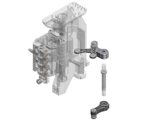 ZF010049 - Maior espessura das alavancas de abertura / fechamento do molde