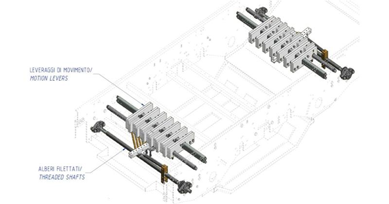 MT500051 - Alavancas de regulagem das correias do kit de revisão (área separadora)