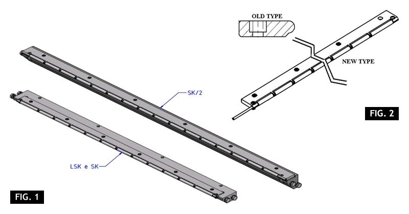 ZF010120 - Substituição da placa de correia com uma placa de rolamento de vida longa
