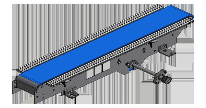 ZF010121 - Modificação da correia de alimentação de papelão por uma nova correia por INTRALOX em máquinas LWP