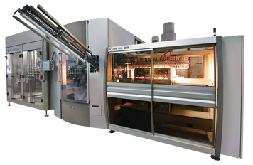 Sistemas integrados de Sopro, Envase de líquidos gaseificados.