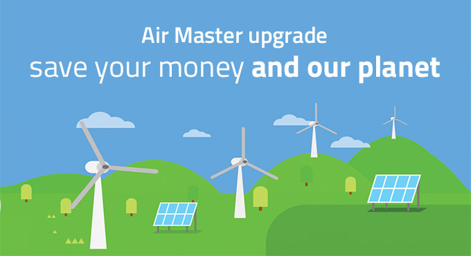 Save energy and help the environment with Air Master